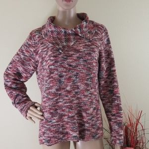5/$25 JH Collectibles Mixed Red Cowlneck Sweater
